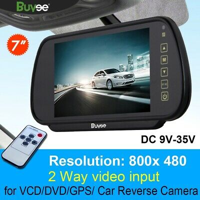 """7"""" Lcd Tft Color Mirror Monitor For Car Bus Rearview Reverse Camera"""