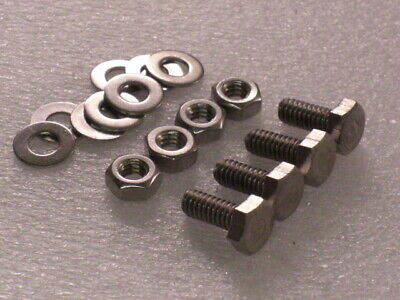 "4x 1/4 BSW x 5/8"" Whitworth Stainless Hex Bolts Nut Washer VINTAGE CAMERA TRIPOD"