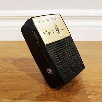 Vintage 1960 ADMIRAL Y2061 Pocket Transistor Radio, Made in USA, Works Well!