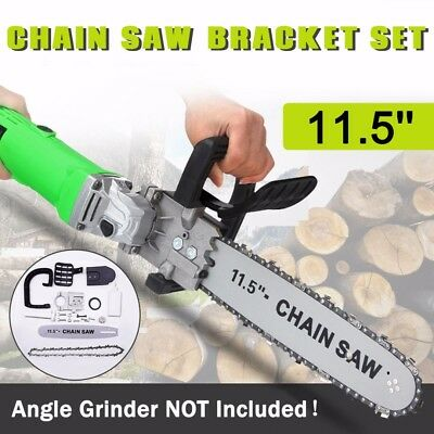 11.5'' Electric Chainsaw Transfer Conversion Bracket Angle Grinder Set Woodwork