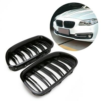 Gloss Black Kidney Grill Racing Grille Dual Line For BMW F11 F10 F18 5 Series M5