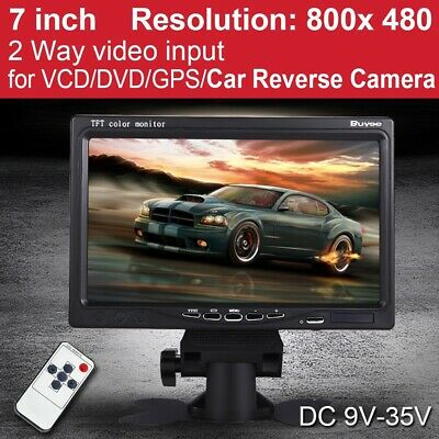"Portable 7"" TFT LCD Digital Color Screen Monitor for Car Rear View CCTV Camera"