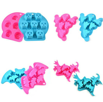 Halloween Silicone Mould Mold Ice Cube Tray Maker for Party Bar Chocolate Jelly
