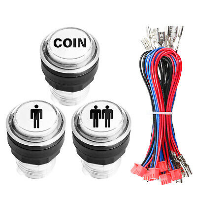 LED MAME Arcade Start Player LED Coin Buttons For XBOX 360 & Jamma Games
