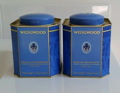 Wedgewood Brand English Breakfast Tea Tins 2013-Excellent Condition!