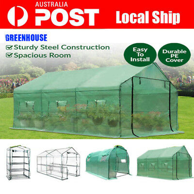 Walk In Greenhouse Garden Green House Tunnel Plant Shed Shelve Pe Cover Roof