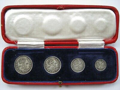 1939 George VI silver Maundy set in Royal Mint dated case