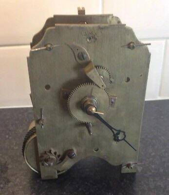 Antique single fusee clock movement for restoration.