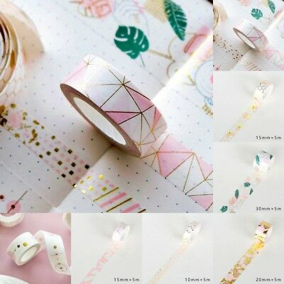 White+Pink Foil Paper Washi Tape Kawaii Stationery Scrapbooking Decorative Tapes