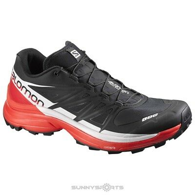 e7f12c831df6 NEW SALOMON UNISEX S-Lab Wings SG Trail Running Shoes Size 9.5  Black Red White -  127.56