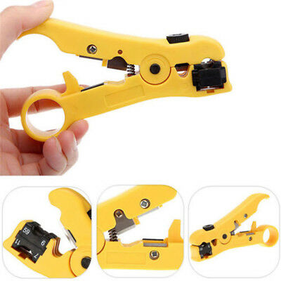 Rotary Coaxial Cable Wire Cutter Stripping Tool RG59 RG6 RG7 RG11 Stripper Tool