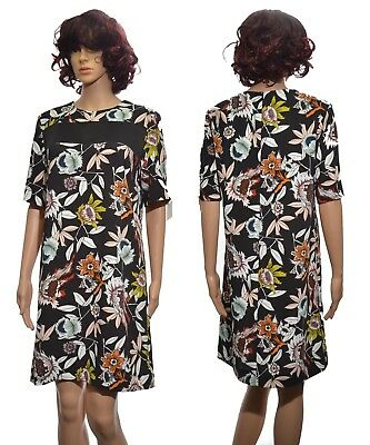 Ladies Hatty Print Band T Shirt Dress By Boutique short sleeved Womens Size 12