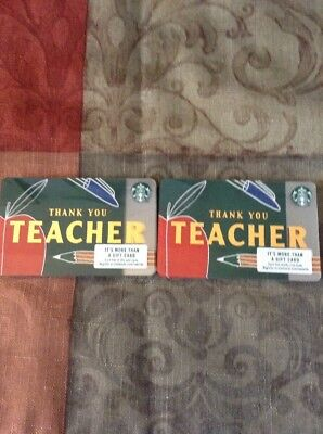 🍎 Starbucks 2018 Thank You Teacher Gift Card Lot Of 20