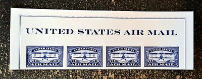 2018USA #5281 Forever United States Air Mail Blue - Header strip of 4  Mint NH
