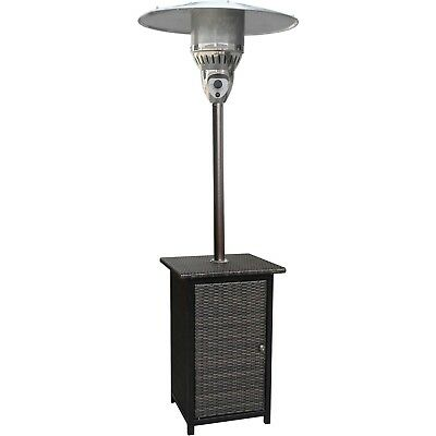 Delightful Outdoor Propane Patio Heater Bronze Wicker 7u0027 41,000 BTU Pool Garden Home  Porch