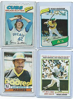 1977-1978-1979-1980 Topps set-pick 30 complete your set EX or better