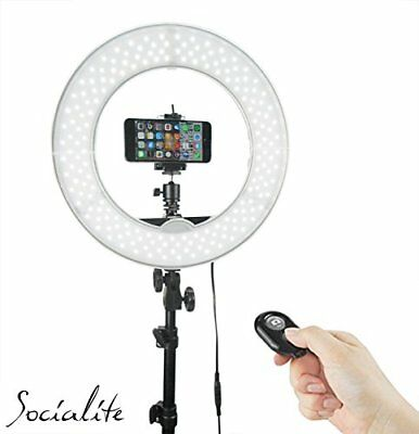 "12"" Led Dimmable Photo Video Ring Light Kit - Incl Professional Social Media  *N"