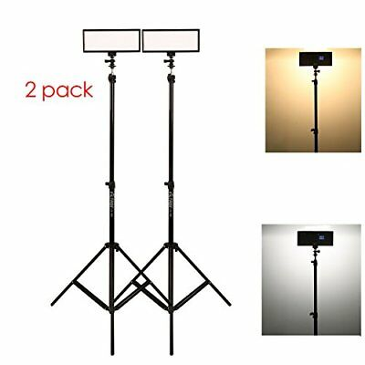 ( 2 Pack)  Video Lighting Kit,L132T Led Light With Light Stand, 2M Ac Adapter,
