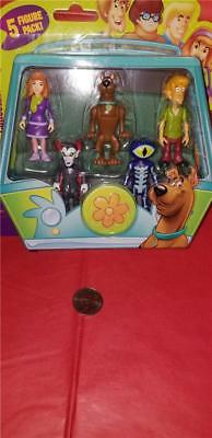 """Scooby-Doo!Collectible Figures-5 Pack 2.5""""(Daphne,Scooby,Shaggy,Dracula&Skeleton"""