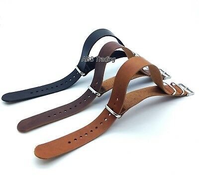 Leather Watch Strap Band Army Military Divers NATO G10 Mens (multiple sizes)