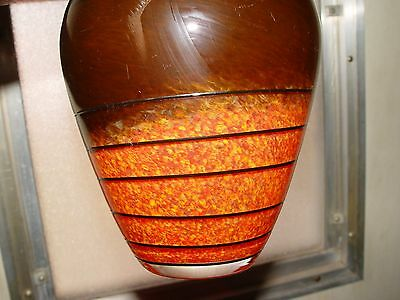 Vintage Murano Orange Glass Vase 2028 Picclick