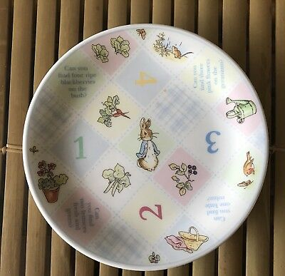 WEDGWOOD 1997 The World of Peter Rabbit 1-2-3 Child's Plate