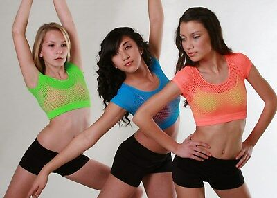 Girls Dance Mesh Crop Top