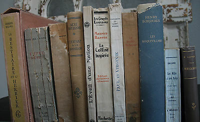 Old Rare Antique French Estate Lot of 11 Books Most Illustrated Some Numbered!