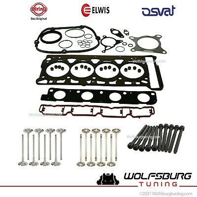 ENGINE CYLINDER HEAD Gasket Set With Head Bolts For Audi VW