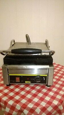 Buffalo Single Contact Grill Ribbed Plates Panini Machine, Used