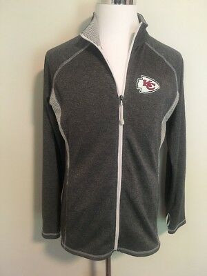 NFL Kansas City Chiefs Football Full Zip Sweat Jacket Mens X Large Majestic NWOT