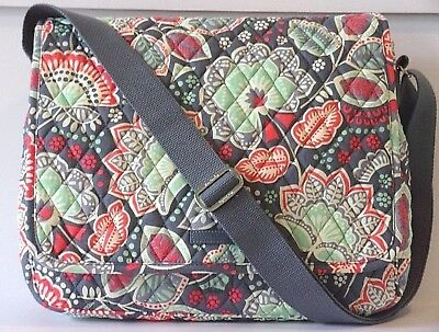 01f818f97f2 NEW VERA BRADLEY NOMADIC FLORAL LIGHTEN UP Messenger Bag - Laptop ...
