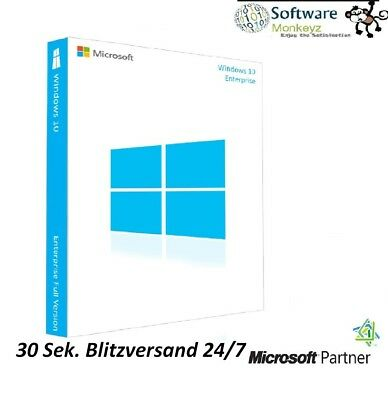 Microsoft Windows 10 Enterprise  Vollversion 32 & 64 Bit Product-Key Lizenz-Key0