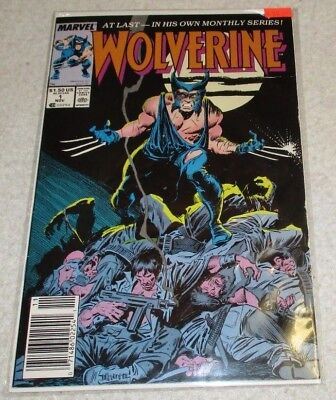 Marvel Wolverine #1 1988 Ongoing Monthly Patch Nice Shape