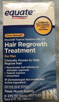 Equate Hair Regrowth Treatment For Men Three Month Supply  exp 11/2018 +