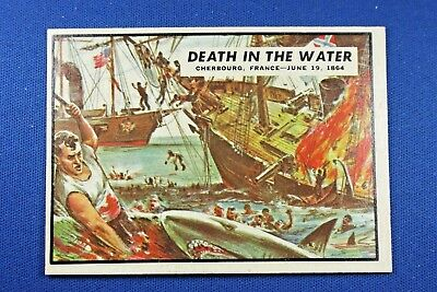 1962 Topps Civil War News - #69 Death In The Water - Ex/Mt Condition