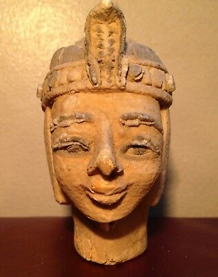 Rare Antique Ancient Egyptian limestone Head 1