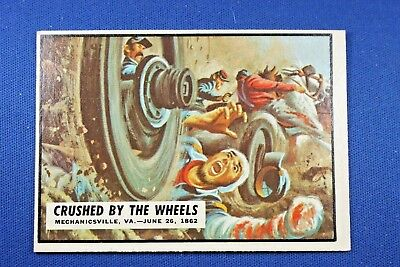 1962 Topps Civil War News - #23 Crushed By The Wheels - Ex Condition