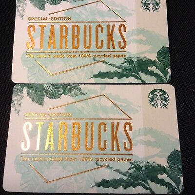 New 2018 Starbucks Gift Card U.S. 100% Recycled Paper SPECIAL EDITION Lot of 20