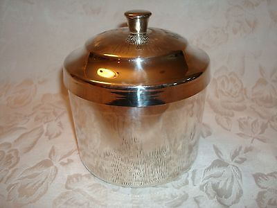 Vintage Sheffield Parkin Silversmiths Ltd Silver Bar Cart Ice Bucket & Liner
