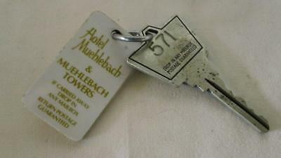 1960s(?) HOTEL MUEHLEBACH & TOWERS, KCITY, MO ROOM KEY & FOB - FREE SHIPPING