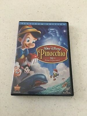 Walt Disney Pinocchio (DVD, 2009, 2-Disc Set, 70th Anniversary Platinum Edition)
