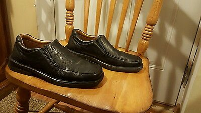 Mens Strictly Comfort Sz 8.5M Black Leather Loafers casual/dress GOOD CONDITION
