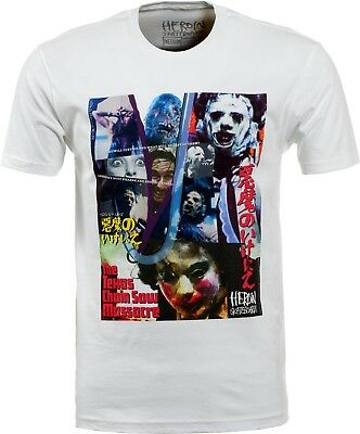 HEROIN Skateboards T-Shirt *Texas Chainsaw Massacre Collage*, weiss, Gr. L