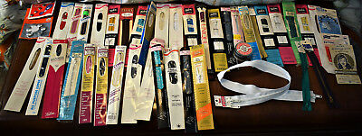 Large Lot Of Vintage Zippers Packaged Most Talon Metal And Nylon Various Sizes