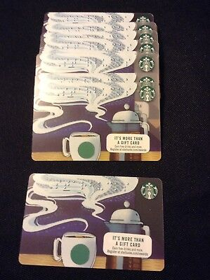 Starbucks Coffee Gift Card BRAILLE GIFT CARD NEW RARE - Lot of 50 Rolling Price-