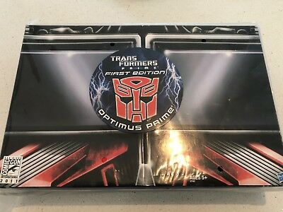 Transformers Prime First Edition Deluxe Optimus Prime SDCC 2011 MISB