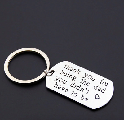I Love You Dad Keyring Key Ring ~ Silver Colored Father's Day Keychain Key Chain