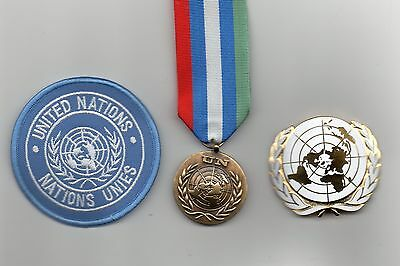 United Nations Medal For Bosnia/hertzegovinia   ,un Beret Badge And Sleeve Badge