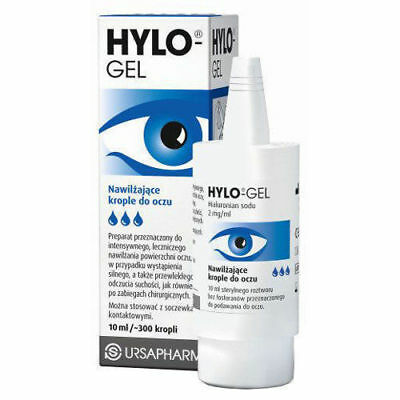3x10ml Hylo-Gel sterile eye drop solution moistening.
